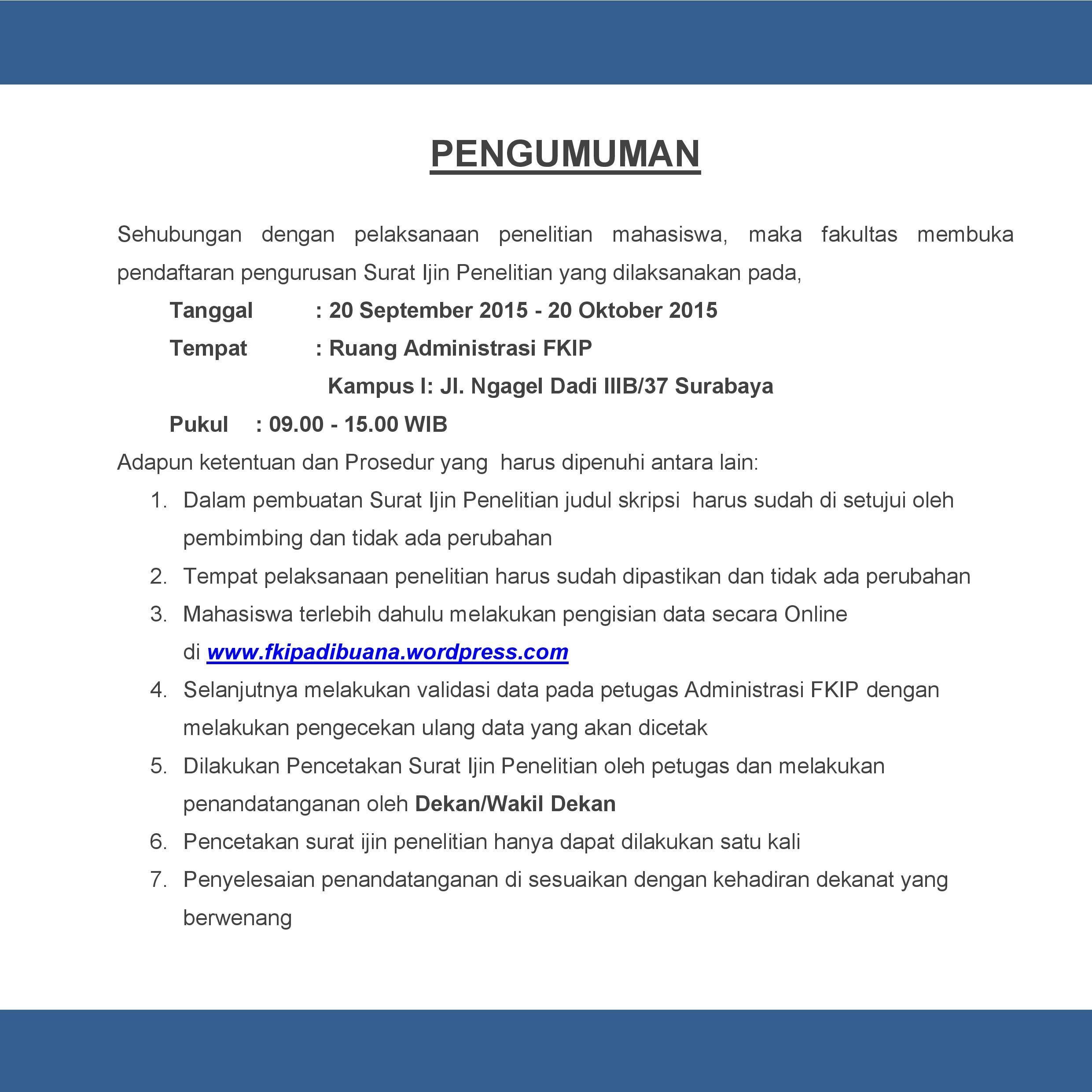PENGUMUMAN surat ijin penelitian-page-001